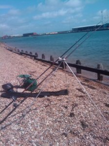 Set up on Kingston Beach
